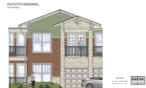 Rendering for The Bungalows